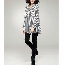 Chiffon Striped Regular Size Tops & Blouses for Women