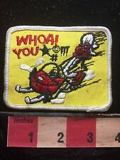 Old School Snowmobile WHOA YOU *%#** Patch 1980s / 1990s Era 72Y8