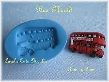 CAKE DECORATING: DETAILED LONDON BUS SILICONE MOULD CAKE/CUPCAKE TOPPER