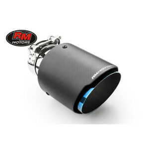 Exhaust tip carbon stainless steel tailpipe burned blue 4″