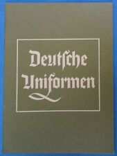 Original WWII German Uniform Booklet - Deutsche Uniformen