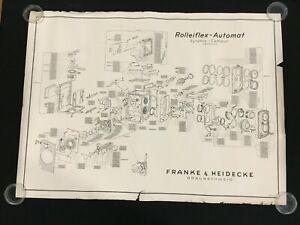 Exploded Diagram / Schematic for Rolleiflex-Automat Franke & Heidecke OEM Poster