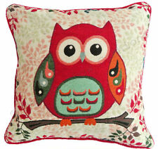 Owl Polyester Floral Decorative Cushions