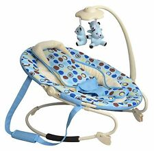 Cute Baby Oval Spotted Blue Bouncer From New Born