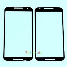 BLACK FRONT OUTER LENS GLASS FOR MOTOROLA MOTO X 2nd GEN 2014 X2 XT1095