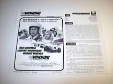 WINNING PRESSBOOK PAUL NEWMAN INDY 500 RACING RR73 (1969)