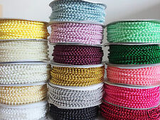 Plastic Round Faux Pearl Beads on a String - MOT Beads