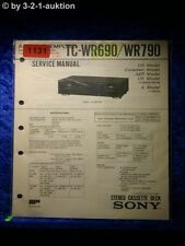 Sony Service Manual TC wr690/wr790 cassette Deck (#1131)