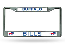 NFL Buffalo Bills Chrome License Plate Frame Thin Blue Letters