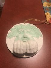 Celtic Pagan The Green Man Ceramic Leaf Open Hands Garden Hang FREE SHIPPING