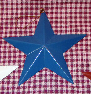 "Rustic Blue Americana Star Vintage Blue Metal Rustic Country Primitive 5.5"""