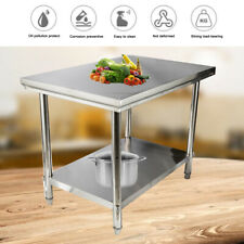 Stainless Steel Work Prep Table 40 X 28 Commercial Kitchen Food Restaurant Bbq