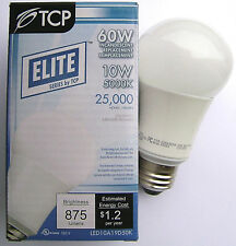 12 of TCP LED 10W A19 Dimmable 5000K Light Bulb 60W Equal LED10A19D50K