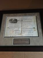 President James Monroe Signed Document Autograph AUTO Framed