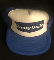 Graybar Mesh Trucker Hat Snapback Vintage Blue White Cap