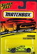 Matchbox MB 78 Ferrari Testarossa Fluorescent Yellow Thailand New 1995