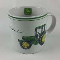 """Nothing Runs Like a Deere"" Coffee MUG Cup JOHN DEERE Tractor by Gibson"