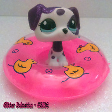 LPS Glitter Dalmatian #2136 & Accessories. Summer Fun With LPS Dog #LPS2136