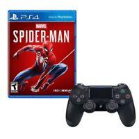 Marvel's Spider-Man + Sony Jet Black DualShock 4 Wireless Controller