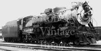 CB&Q Burlington 4-6-4 Steam Locomotive 3007 Hudson Train Railroad photo