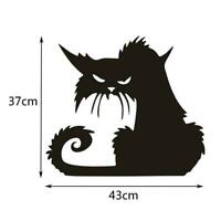 Halloween Favor Large Scary Black Cat Window Sticker Decor Wall Sticker Decal SH
