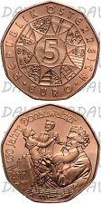 MONETE EURO AUSTRIA 2017 _ 5 EURO RAME _ CAPODANNO : 150 ANNI DONAUWALZER