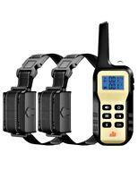 1100 YD 2 Dog Remote Shock Collar w/ Auto Anti Bark for Small Medium Large Dogs