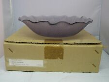 "NEW Mikasa Glass Lavender Embossed Ruffled Lotus Flower 9.75"" Hostess Bowl"