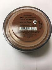 Bare Minerals Matte Foundation SPF 15 Warm Deep W55 0.21 oz/ 6g new