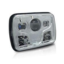 LED Headlight Square 5x7 LED with high low beam Black For Trucks Custom Car PAIR