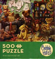 Teddy Bear Workshop 500 Piece Puzzle - Janet Kruskamp