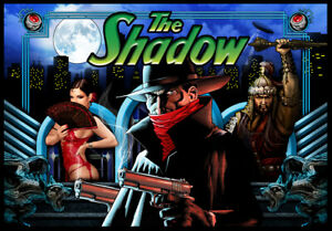The Shadow Pinball Alternate Translite (2 versionsto choose from)