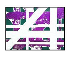 Abstract painting original canvas art contemporary acrylic metallic purple ooak