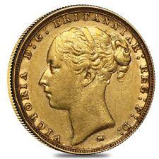 1872-1887 M Australia Gold Sovereign Victoria Young Head (Avg Circ)