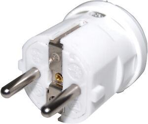 2 Pin White Rewireable Euro 2P Plug