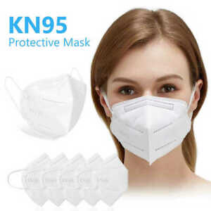 10 Pack Disposable Protective Face Mask KN95 Filtration Respirator Facemask