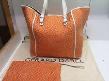 Neuf - Sac Darel 36h Tres Grand Dublin Paille Raphia Raffia Multicolore Orange