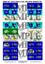 War Of 1812 - Us Militia Flags - 28mm (sheet 2)