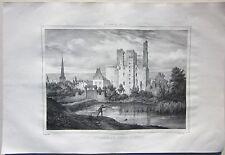 1838 CHÂTEAU DE SAGONNE lithographie Émile Sagot Achille Allier Desrosiers Cher