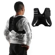 Black 12 lb. Adjustable Weighted Jacket Vest Fitness Training Exercise Waistcoat