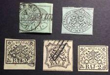 Francobolli italiani usati 5 francobolli