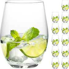 12x [ sehr große ] 590 ml Wassergläser Trinkglas Longdrinkgläser Wasserglas Set
