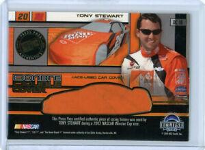 BOBBY LABONTE / TONY STEWART 2004 PRESS PASS DOUBLE CAR COVER RELIC #ED 74/100