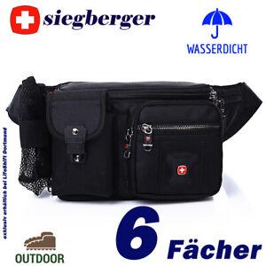 SIEGBERGER Hüfttasche Bauchtasche 6 Fächer wasserdicht Flaschennetz Handyfach HQ