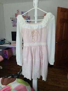 Liz Lisa Lizlisa Pink Floral Detailed Dress