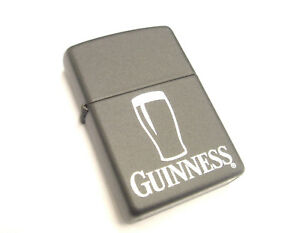 Pint of Guinness Black Matte Zippo Lighter (ZIP310)