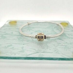 Pandora Authentic 590702HG 925 14k yellow gold charm bracelet many sizes NEW