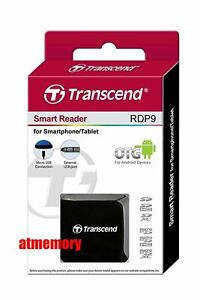 Transcend RDP9 Card Reader OTG for Android Smartphone Tablet Micro SD SDHC SDXC