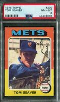 1975 Topps #370 Tom Seaver PSA 8 NM-MT