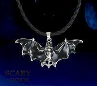 New Bat Gothic Wings Halloween Vampire Punk Biker Necklace